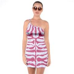 SKIN2 WHITE MARBLE & PINK DENIM (R) One Soulder Bodycon Dress