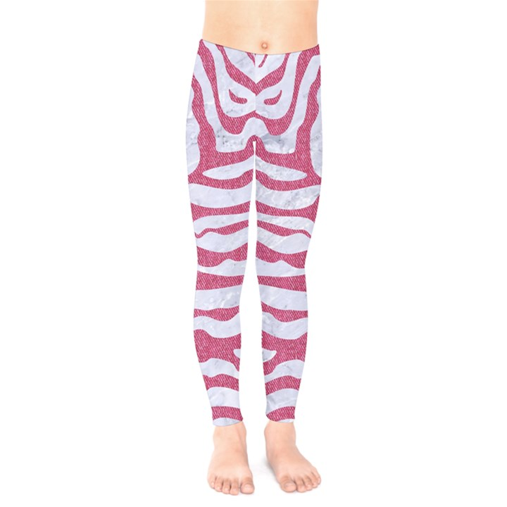 SKIN2 WHITE MARBLE & PINK DENIM (R) Kids  Legging
