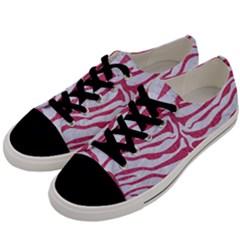 SKIN2 WHITE MARBLE & PINK DENIM (R) Men s Low Top Canvas Sneakers