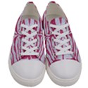 SKIN2 WHITE MARBLE & PINK DENIM (R) Women s Low Top Canvas Sneakers View1