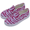 SKIN2 WHITE MARBLE & PINK DENIM (R) Kids  Canvas Slip Ons View2