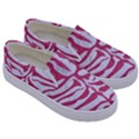 SKIN2 WHITE MARBLE & PINK DENIM (R) Kids  Canvas Slip Ons View3