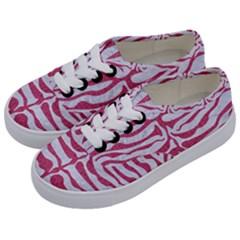 SKIN2 WHITE MARBLE & PINK DENIM (R) Kids  Classic Low Top Sneakers