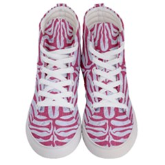 Skin2 White Marble & Pink Denim (r) Men s Hi Top Skate Sneakers