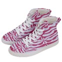 SKIN2 WHITE MARBLE & PINK DENIM (R) Men s Hi-Top Skate Sneakers View2