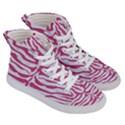 SKIN2 WHITE MARBLE & PINK DENIM (R) Women s Hi-Top Skate Sneakers View3