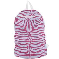 SKIN2 WHITE MARBLE & PINK DENIM (R) Foldable Lightweight Backpack