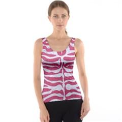 Skin2 White Marble & Pink Denim Tank Top