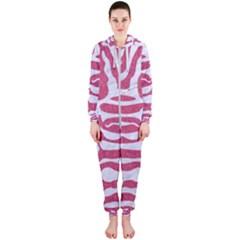 SKIN2 WHITE MARBLE & PINK DENIM Hooded Jumpsuit (Ladies)
