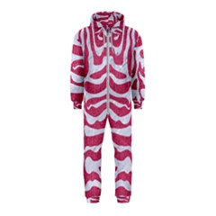 SKIN2 WHITE MARBLE & PINK DENIM Hooded Jumpsuit (Kids)