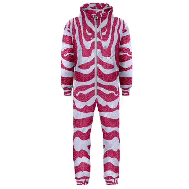 SKIN2 WHITE MARBLE & PINK DENIM Hooded Jumpsuit (Men)