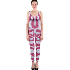 Skin2 White Marble & Pink Denim One Piece Catsuit by trendistuff