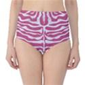 SKIN2 WHITE MARBLE & PINK DENIM Classic High-Waist Bikini Bottoms View1