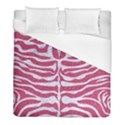 SKIN2 WHITE MARBLE & PINK DENIM Duvet Cover (Full/ Double Size) View1