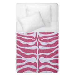 Skin2 White Marble & Pink Denim Duvet Cover (single Size)
