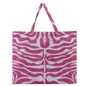 SKIN2 WHITE MARBLE & PINK DENIM Zipper Large Tote Bag View1