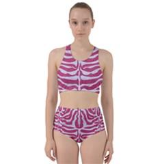 SKIN2 WHITE MARBLE & PINK DENIM Racer Back Bikini Set