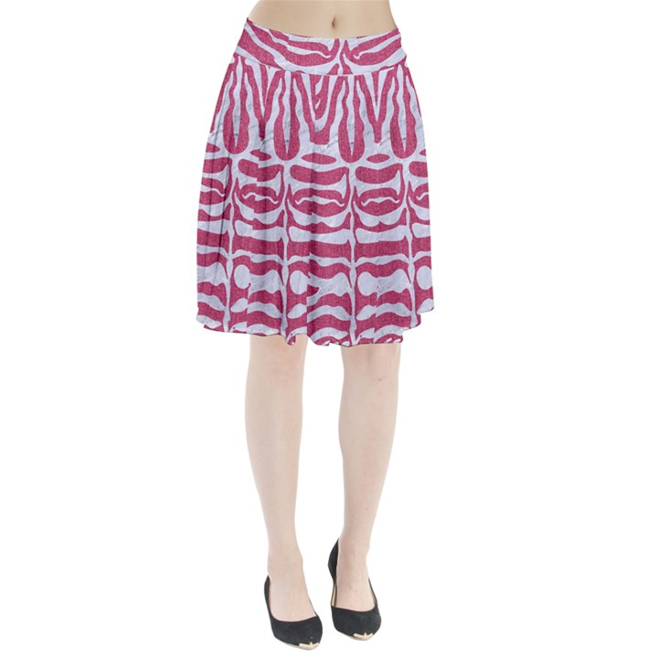 SKIN2 WHITE MARBLE & PINK DENIM Pleated Skirt