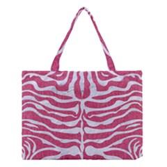 SKIN2 WHITE MARBLE & PINK DENIM Medium Tote Bag
