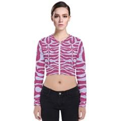 Skin2 White Marble & Pink Denim Bomber Jacket