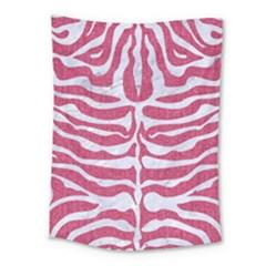 SKIN2 WHITE MARBLE & PINK DENIM Medium Tapestry