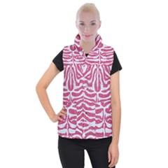 SKIN2 WHITE MARBLE & PINK DENIM Women s Button Up Vest