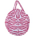 SKIN2 WHITE MARBLE & PINK DENIM Giant Round Zipper Tote View1