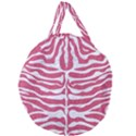 SKIN2 WHITE MARBLE & PINK DENIM Giant Round Zipper Tote View2