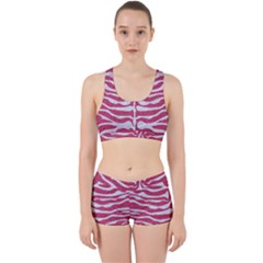 Skin2 White Marble & Pink Denim Work It Out Gym Set