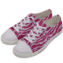 SKIN2 WHITE MARBLE & PINK DENIM Women s Low Top Canvas Sneakers