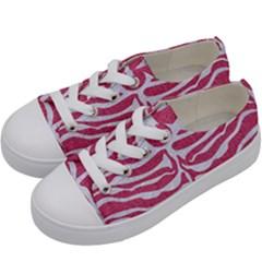 SKIN2 WHITE MARBLE & PINK DENIM Kids  Low Top Canvas Sneakers