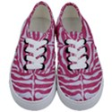 SKIN2 WHITE MARBLE & PINK DENIM Kids  Classic Low Top Sneakers View1