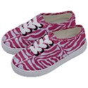 SKIN2 WHITE MARBLE & PINK DENIM Kids  Classic Low Top Sneakers View2