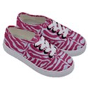 SKIN2 WHITE MARBLE & PINK DENIM Kids  Classic Low Top Sneakers View3