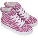 SKIN2 WHITE MARBLE & PINK DENIM Kid s Hi-Top Skate Sneakers View3