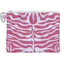 SKIN2 WHITE MARBLE & PINK DENIM Canvas Cosmetic Bag (XXL) View1
