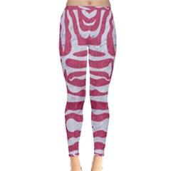 SKIN2 WHITE MARBLE & PINK DENIM Inside Out Leggings