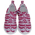 SKIN2 WHITE MARBLE & PINK DENIM Velcro Strap Shoes View1