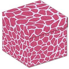 Skin1 White Marble & Pink Denim (r) Storage Stool 12