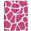 SKIN1 WHITE MARBLE & PINK DENIM (R) Apple iPad 3/4 Flip Case View1