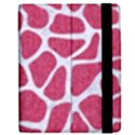SKIN1 WHITE MARBLE & PINK DENIM (R) Apple iPad 3/4 Flip Case View2