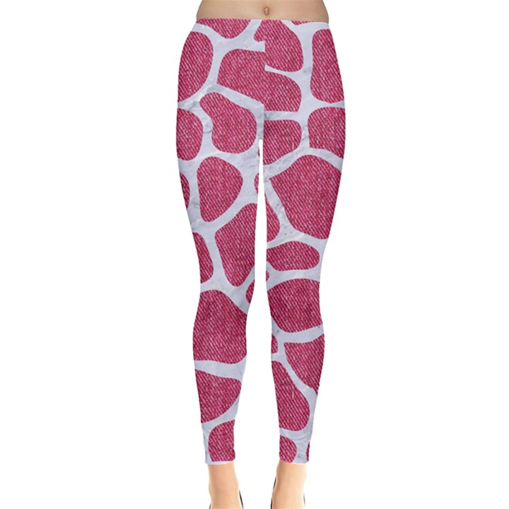 SKIN1 WHITE MARBLE & PINK DENIM (R) Leggings