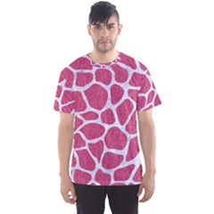 Skin1 White Marble & Pink Denim (r) Men s Sports Mesh Tee