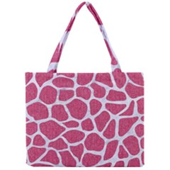 Skin1 White Marble & Pink Denim (r) Mini Tote Bag