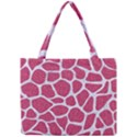 SKIN1 WHITE MARBLE & PINK DENIM (R) Mini Tote Bag View1