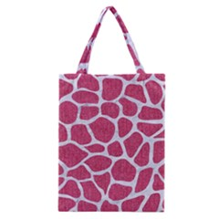 Skin1 White Marble & Pink Denim (r) Classic Tote Bag