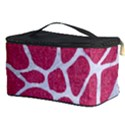 SKIN1 WHITE MARBLE & PINK DENIM (R) Cosmetic Storage Case View3