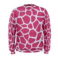 Skin1 White Marble & Pink Denim (r) Men s Sweatshirt