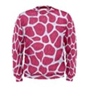 SKIN1 WHITE MARBLE & PINK DENIM (R) Men s Sweatshirt View1