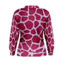 SKIN1 WHITE MARBLE & PINK DENIM (R) Women s Sweatshirt View2